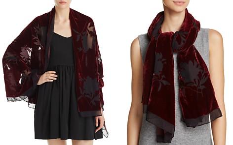 AQUA Velvet Floral Wrap - 100% Exclusive - Bloomingdale's_2
