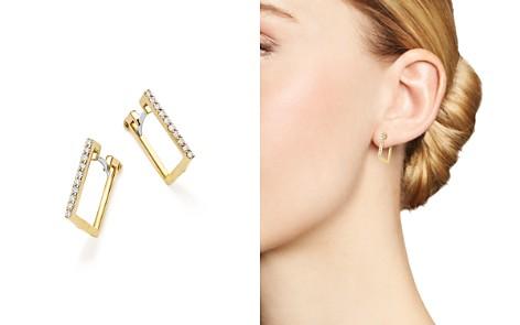 Roberto Coin 18K Yellow Gold Diamond Square Hoop Earrings - Bloomingdale's_2