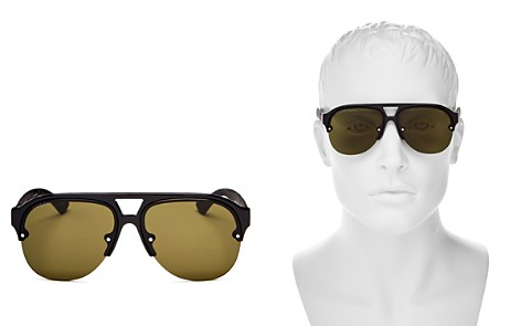 Gucci Urban Mirrored Semi Rimless Aviator Sunglasses, 59mm - Bloomingdale's_2