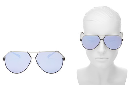 Quay Supernova Mirrored Aviator Sunglasses, 51mm - Bloomingdale's_2