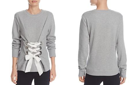 Derek Lam 10 Crosby Lace-Up Sweatshirt - Bloomingdale's_2