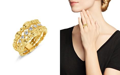 Gumuchian 18K Yellow Gold Diamond Three Row Tapered Nutmeg Ring - Bloomingdale's_2