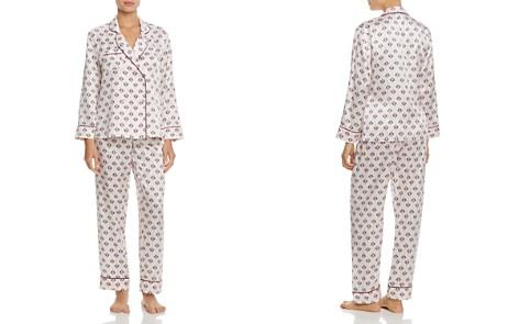 GINIA Double-Breasted Silk Long PJ Set - Bloomingdale's_2