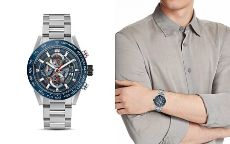 TAG Heuer Carrera Skeleton Chronograph, 45mm - Bloomingdale's_2