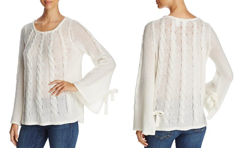 Design History Openwork Cable-Knit Bell-Sleeve Sweater - Bloomingdale's_2
