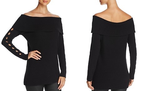 Love Scarlett Marilyn Off-the-Shoulder Cutout-Sleeve Sweater - Bloomingdale's_2
