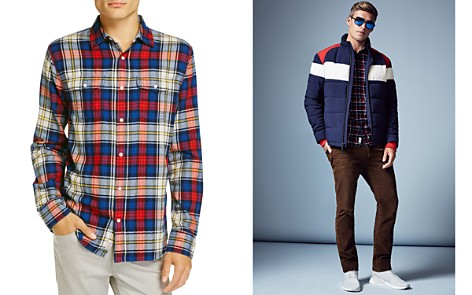 Flag & Anthem Plaid Long Sleeve Flannel Button-Down Shirt - 100% Exclusive - Bloomingdale's_2