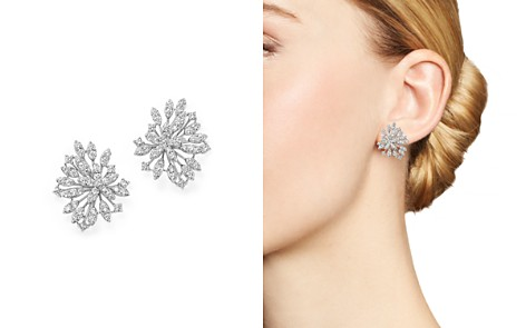 Bloomingdale's Diamond Floral Statement Earrings in 14K White Gold, 2.20 ct. t.w. - 100% Exclusive_2