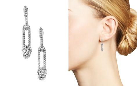 Hulchi Belluni 18K White Gold Tresore Diamond Single Linear Drop Earrings - Bloomingdale's_2