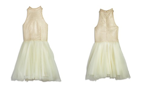 Miss Behave Girls' High-Neck Sequin & Tulle Dress - Big Kid - Bloomingdale's_2