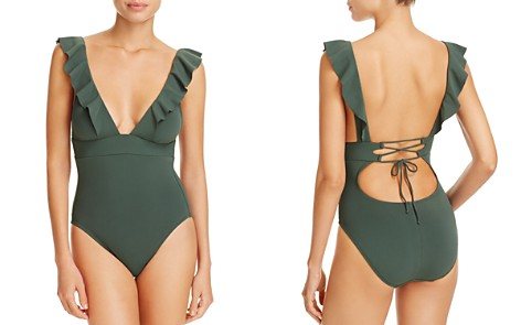 Robin Piccone Lina Ruffled One Piece Swimsuit - Bloomingdale's_2