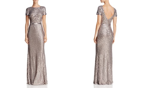AQUA Belted Sequin Gown - 100% Exclusive - Bloomingdale's_2