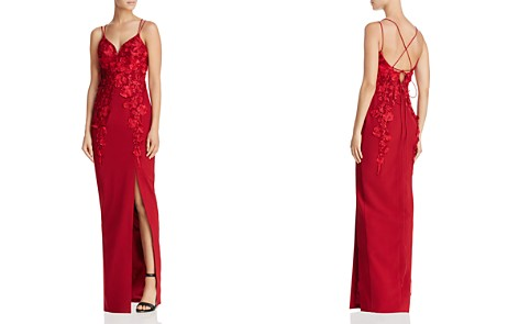 Bariano Floral Appliqué Gown - Bloomingdale's_2