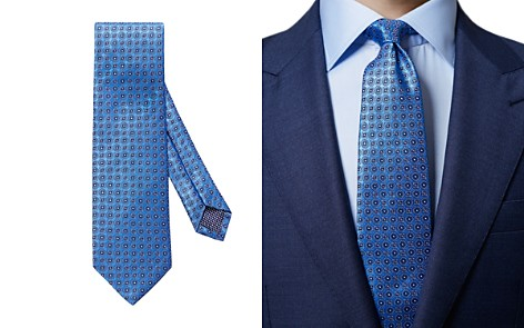 Eton Geometric Medallion Neat Classic Tie - Bloomingdale's_2