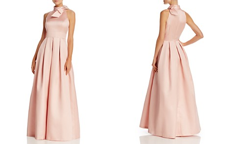 Eliza J Bow-Neck Pleated Gown - Bloomingdale's_2