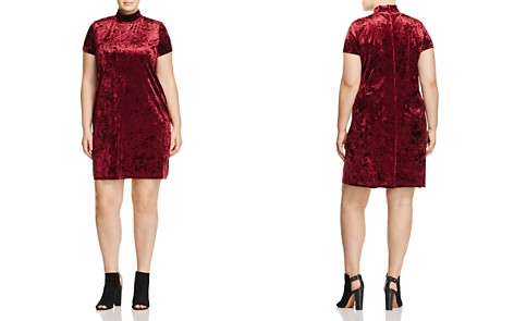 Love Ady Plus Velvet Mock Neck Dress - 100% Exclusive - Bloomingdale's_2