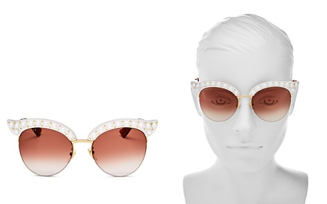 Gucci Women's Cat Eye Embellished Sunglasses, 53mm - Bloomingdale's_2