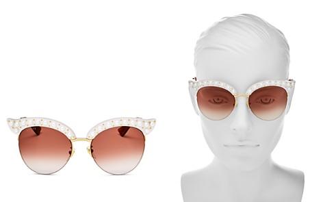 Gucci Women's Cat Eye Embellished Sunglasses, 53mm - Bloomingdale's_2
