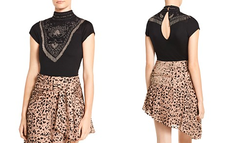 Haute Hippie Through The Looking Glass Embellished Bodysuit - Bloomingdale's_2