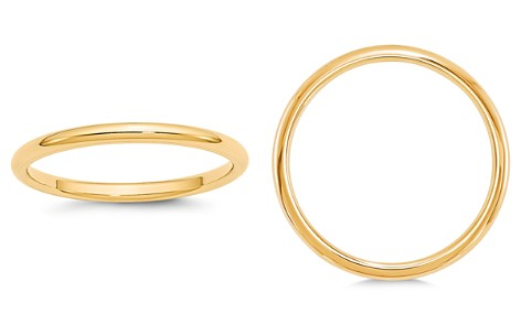 Bloomingdale's Men's 2mm Comfort Fit Band Ring in 14K Yellow Gold - 100% Exclusive_2