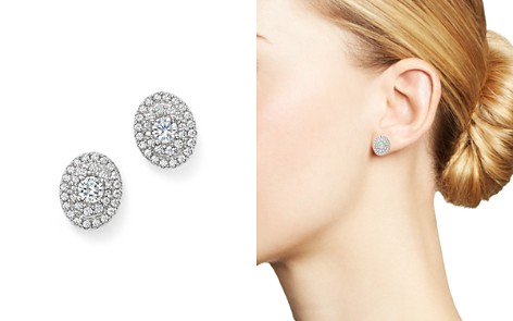 Bloomingdale's Diamond Oval Cluster Stud Earrings in 14K White Gold, 1.0 ct. t.w. - 100% Exclusive_2