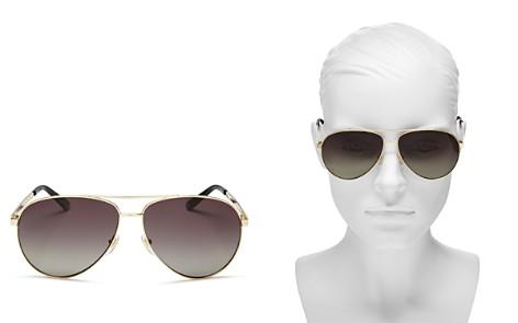 Gucci Women's Polarized Aviator Sunglasses, 61mm - Bloomingdale's_2