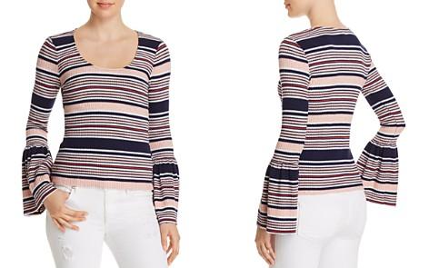 Splendid Striped Bell Sleeve Top - Bloomingdale's_2