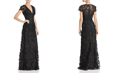 Carmen Marc Valvo Infusion Floral Appliqué Gown - Bloomingdale's_2