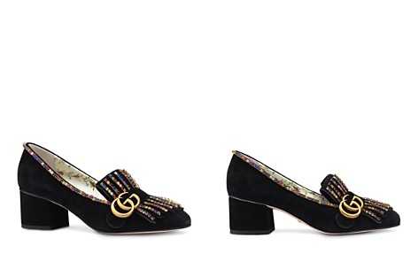 Gucci Women's Embellished Suede 55mm Loafers - Bloomingdale's_2
