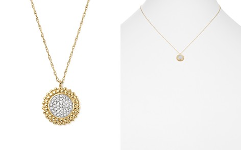 Bloomingdale's Diamond Micro Pavé Beaded Pendant Necklace in 14K Yellow Gold, 0.10 ct. t.w. - 100% Exclusive_2