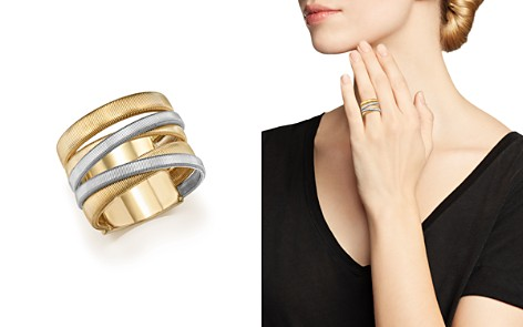 Marco Bicego 18K White & Yellow Gold Masai Five-Strand Crossover Ring - Bloomingdale's_2
