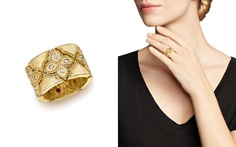 Roberto Coin 18K Yellow Gold Venetian Princess Diamond Ring - Bloomingdale's_2