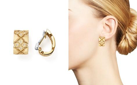 Roberto Coin 18K White & Yellow Gold Venetian Princess Diamond Earrings - Bloomingdale's_2