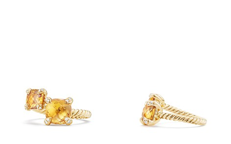 David Yurman Châtelaine Bypass Ring with Citrine & Diamonds in 18K Gold - Bloomingdale's_2