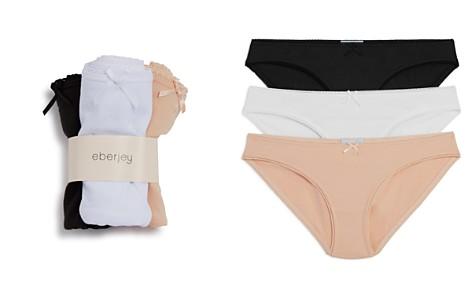 Eberjey Pima Goddess Bikinis, Set of 3 - Bloomingdale's_2