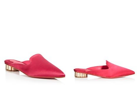 Salvatore Ferragamo Women's Satin Pointed Toe Floral Heel Mules - Bloomingdale's_2