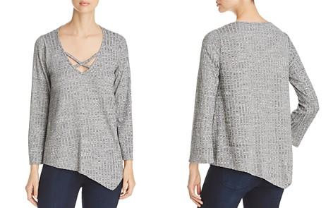 Status by Chenault Ribbed Asymmetric Hem Sweater - Bloomingdale's_2