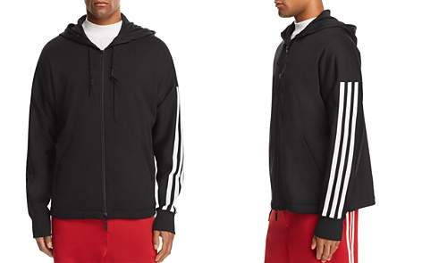 Y-3 Three Stripes Zip Hooded Sweatshirt - Bloomingdale's_2