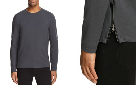John Varvatos Star USA Crewneck Long Sleeve Zip Sweatshirt - 100% Exclusive - Bloomingdale's_2
