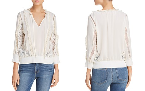Rebecca Minkoff Essex Ruffled Lace-Inset Top - Bloomingdale's_2