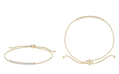David Yurman Paveflex Station Bracelet with Diamonds in 18K Gold - Bloomingdale's_2
