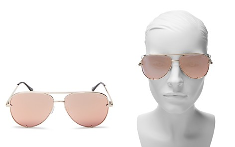 Quay High Key Mini Aviator Sunglasses, 53mm - Bloomingdale's_2