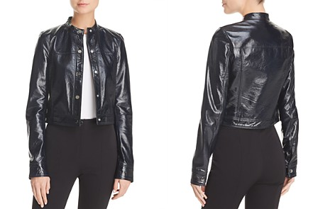 Theory Mod Crinkled Leather Jacket - Bloomingdale's_2