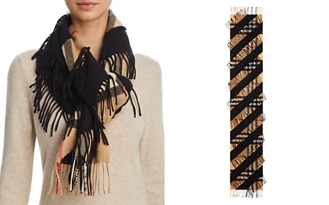 Burberry Giant Fringe Check Cashmere Scarf - Bloomingdale's_2