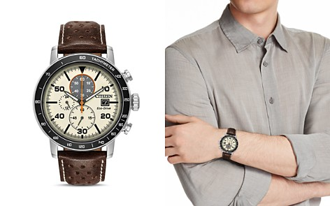 Citizen Men's Leather Strap Watch, 44mm - Bloomingdale's_2