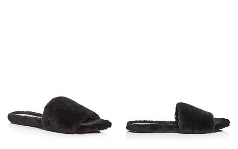 KENDALL and KYLIE Women's Chloe Faux-Fur Slide Sandals - Bloomingdale's_2