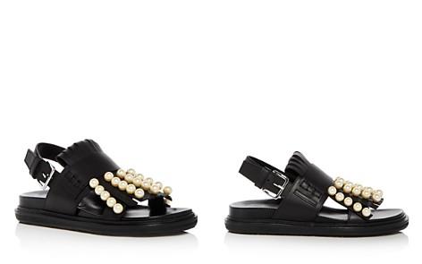 Marni Women's Fussbett Embellished Fringe Leather Slingback Sandals - Bloomingdale's_2