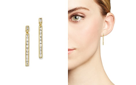 Bloomingdale's Diamond Baguette Linear Drop Earrings in 14K Yellow Gold, 0.50 ct. t.w._2