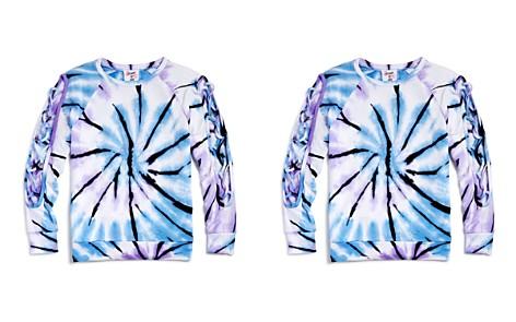 Flowers by Zoe Girls' Lace-Up Sleeve Tie-Dye Sweatshirt - Little Kid - Bloomingdale's_2