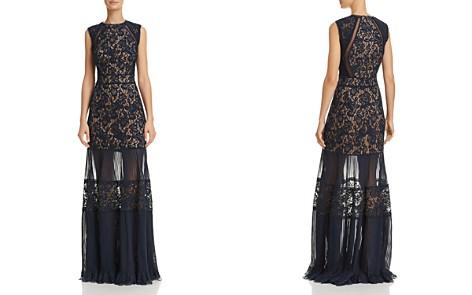 Tadashi Shoji Lace and Chiffon Illusion Gown - 100% Exclusive - Bloomingdale's_2